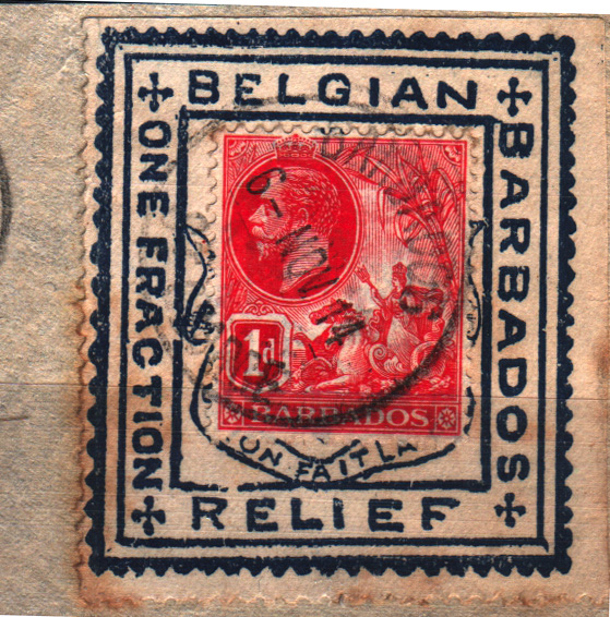 Sg 220 Fancy Colours Caribbean Barbados 1921 1d Red Badge Of Colony Used