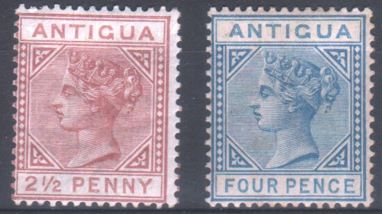 Fine Antigua 1946 Victory Fine Used Set Stamps Elegant In Smell Stamps